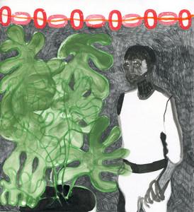 Astrid Oudheusden_Daily Drawing 14-8-14 gemengde techniek op papier 23 x 21 cm