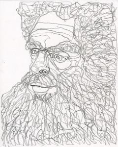 MGvS_Baardman potlood op papier 30 x 24 cm